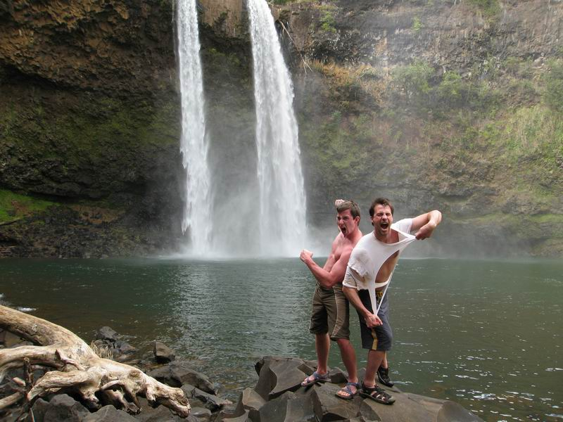 Ryan and Steve by Wailua Falls