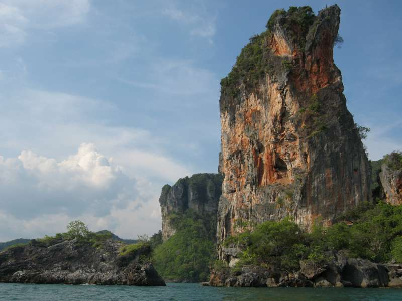 Scenery on the longtail boat ride from Ao Nang to West Railay