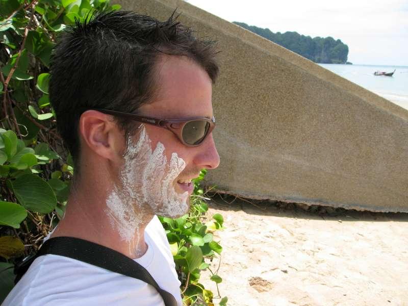 Random slaps of white powder part of Songkran