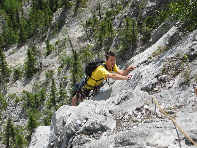 Rock climbing near Canmore