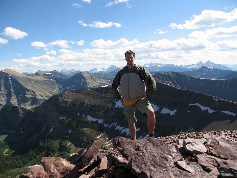 Summit of Newton Peak near Waterton