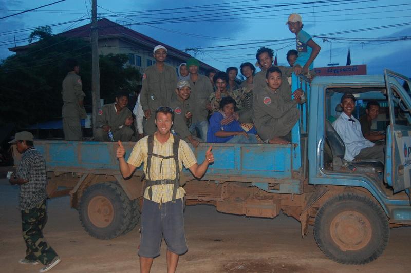 Unloading civilian passangers at Siam Reap