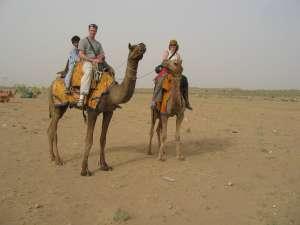 Camel trek in the Sam sand dunes