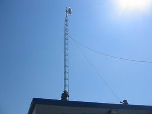 Installing a 40ft tower with antenna near Provost, Alberta