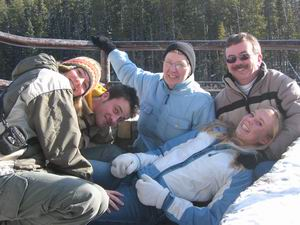 With the Campbells at Elbow Falls