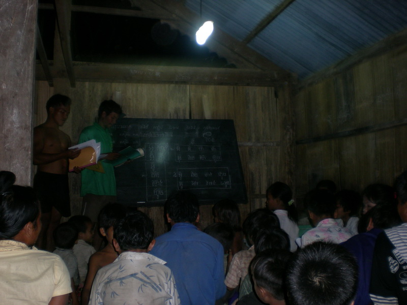 Literacy classes made possible through solar lighting