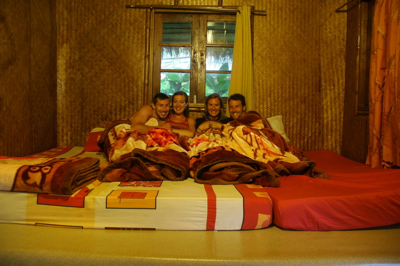 Ecolodge guesthouse bed for 4!