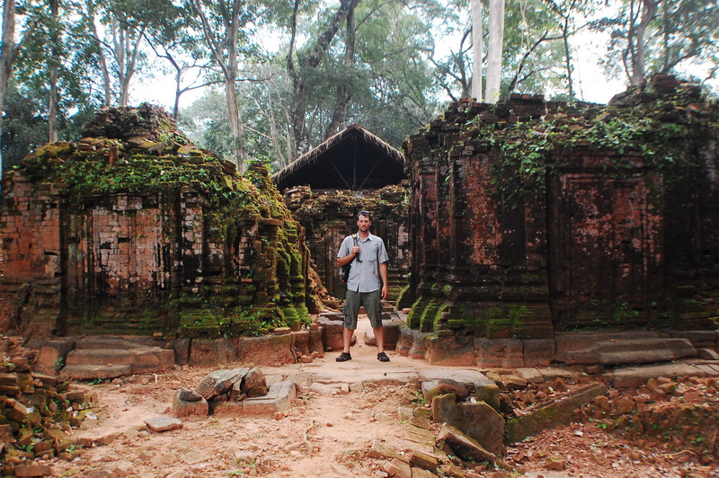 Between some old ruins in Koh Ker