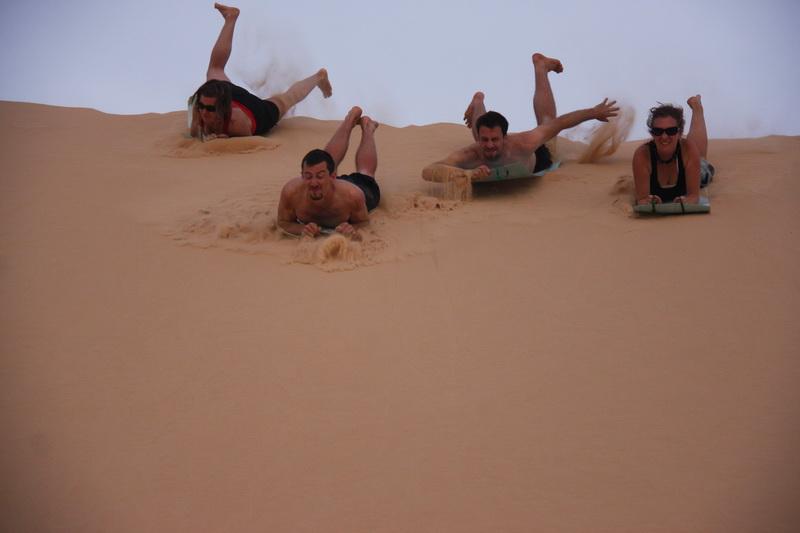 Desert sledding