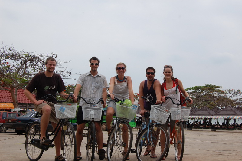 We all rented bikes and cycled around the Cambodian coast.  Beautiful.