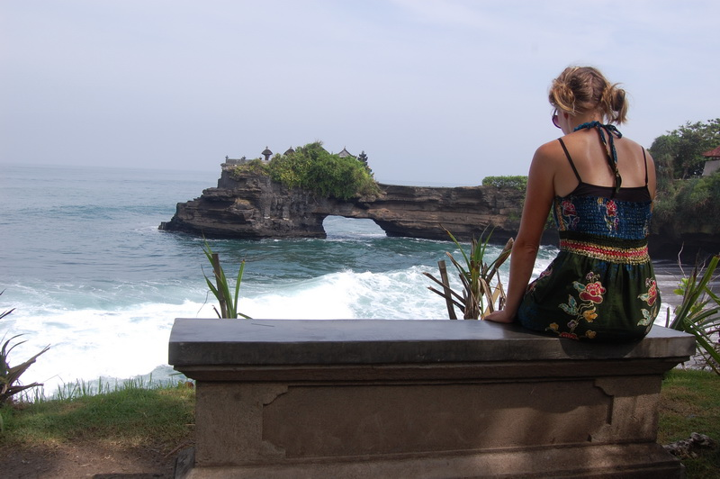 Amazing coastline near Tanah Lot