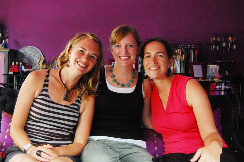 Amie, Amanda, and Lisa enjoying a girls day in Ubud
