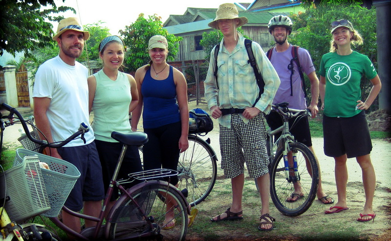 Ryan, Daphne, Jocelyn, Dan, Steve, Amie ready to start in Prey Veng