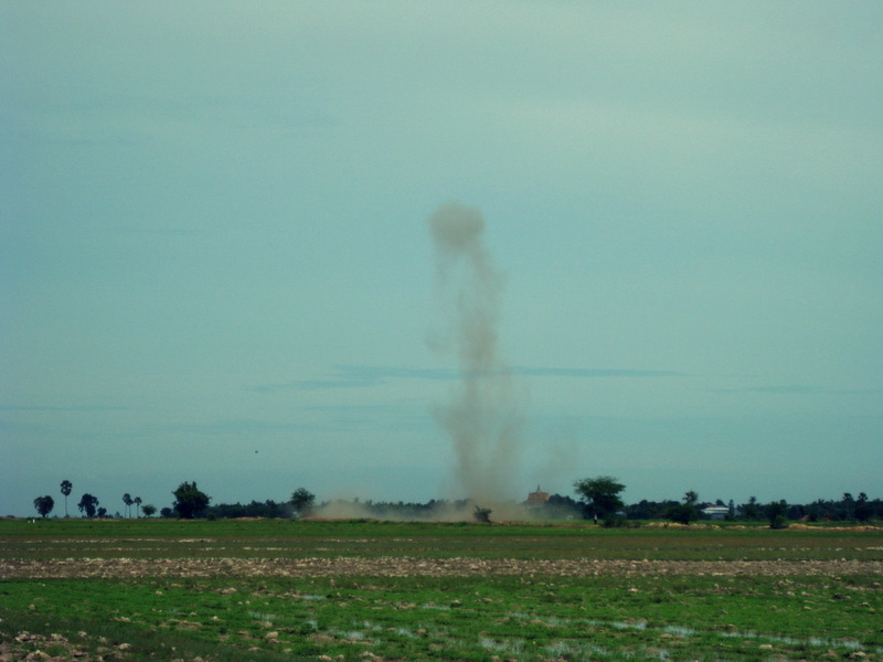 Random explosion in the countryside