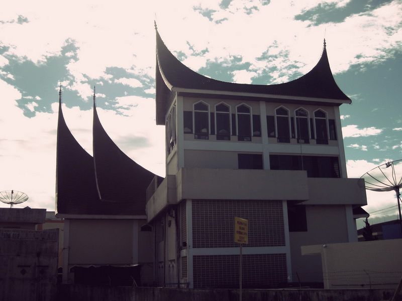 Awesome traditional architecture in West Sumatra