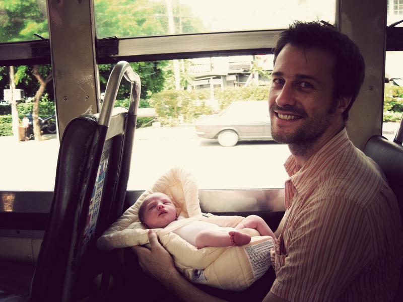 Aya's first bus ride