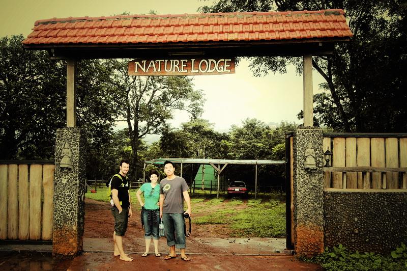 Steves and Jodi at entrance to Nature Lodge