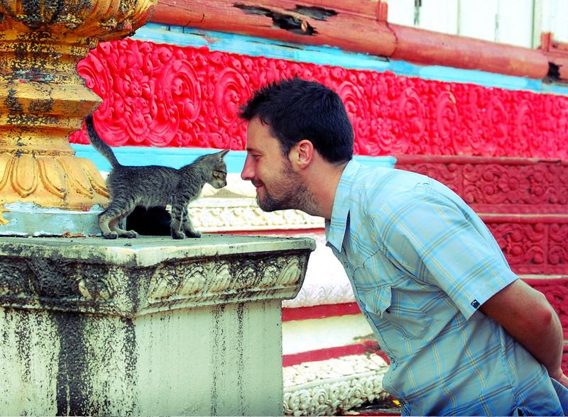 Steve meets a kitty