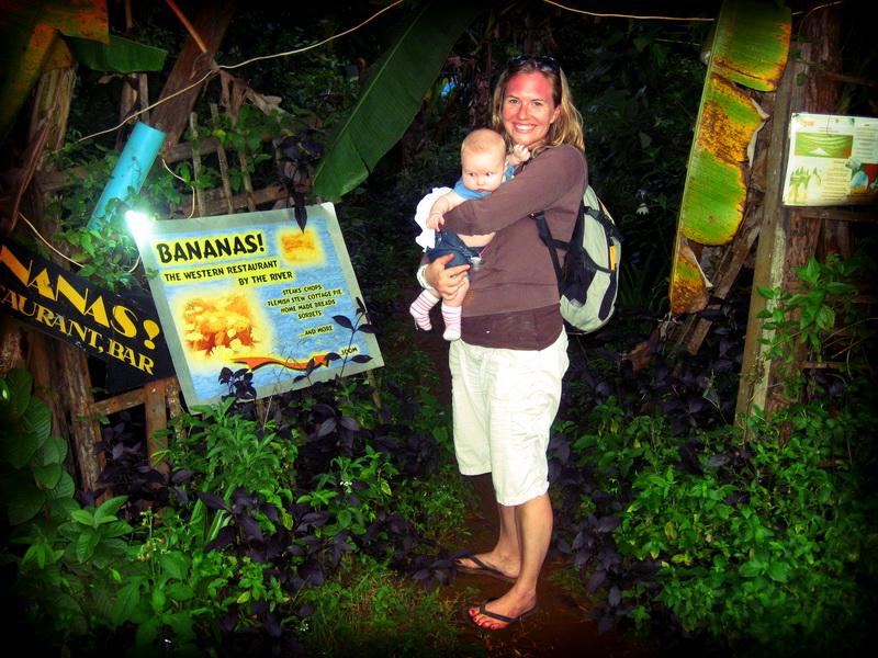 Entrance to 'Bananas' restaurant