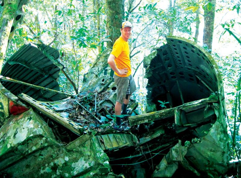 Dan on the wreck