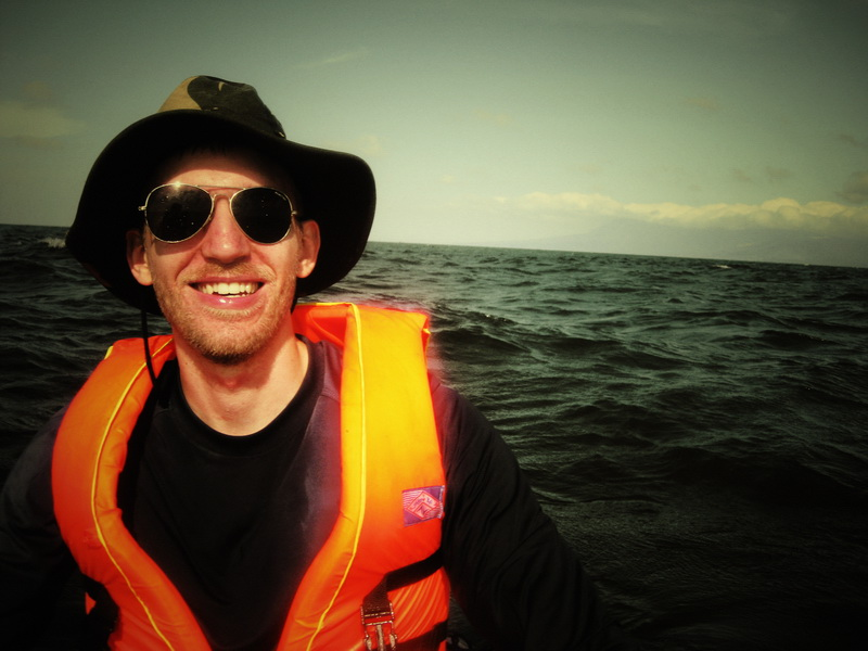 Tim looking stylish even on the open sea