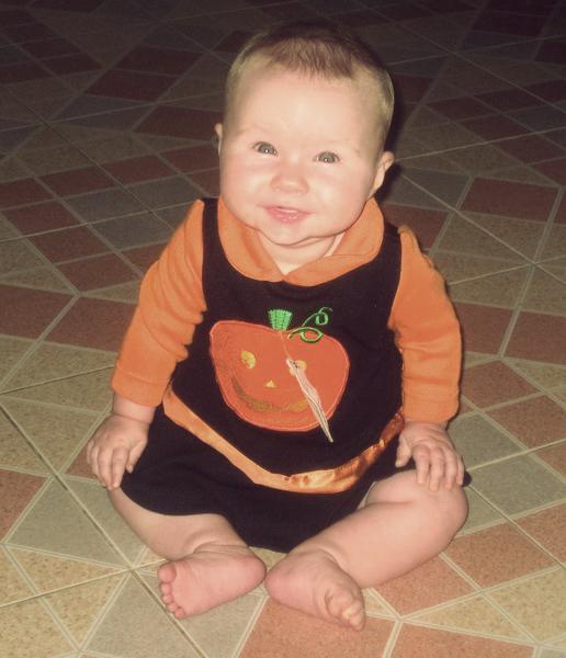Little Halloween pumpkin