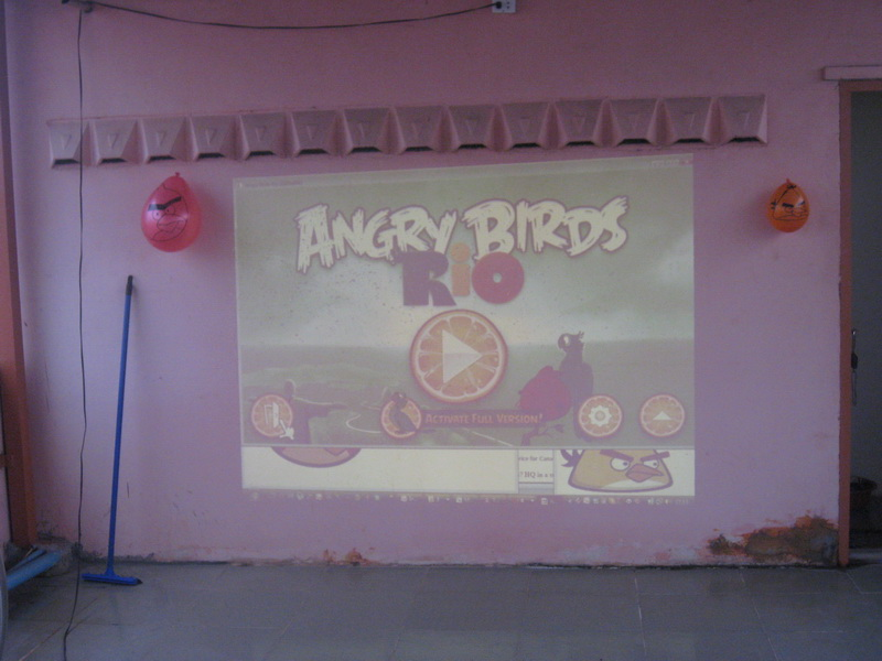 Playing angry birds
