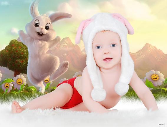 Cedar in bunny land
