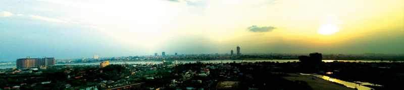 Panoramic from atop Mekong View Tower