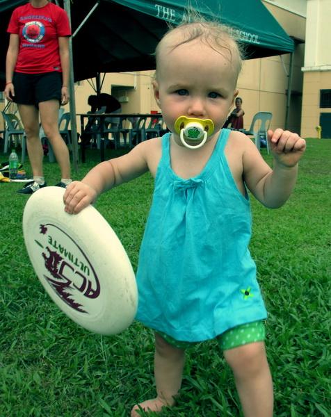 Aya at the Kuala Lumpur annual frisbee tournament