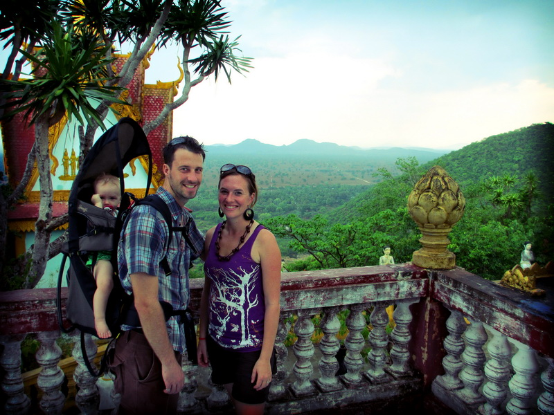 Gosselins enjoying the Phnom Sampov view