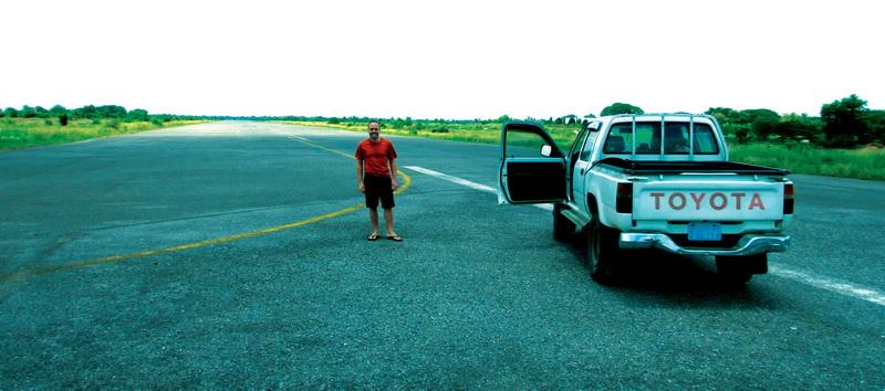 Ryan on the Battambang air strip