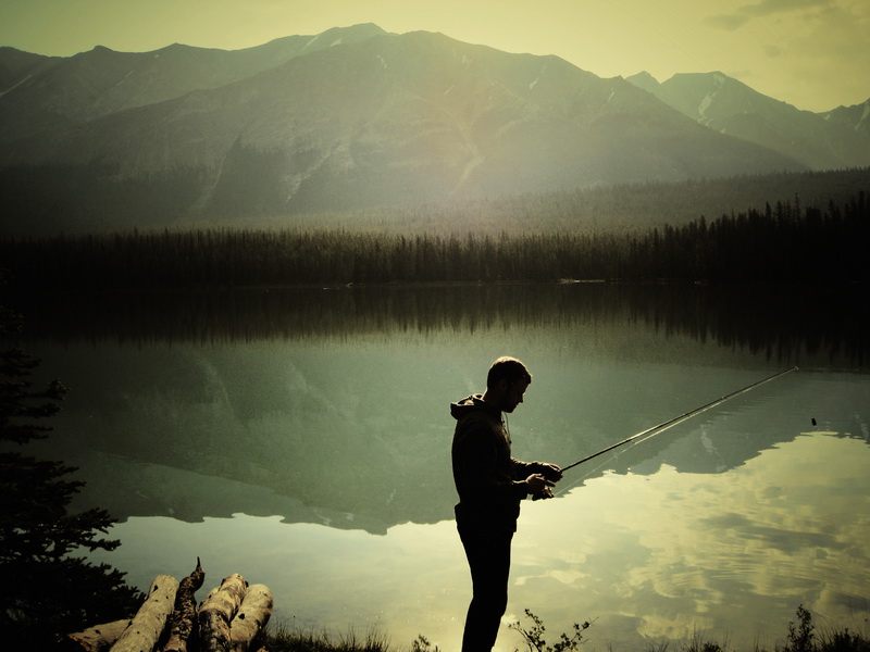 Rob fishing at Skeleton Lake