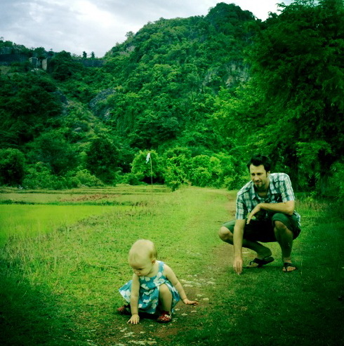 Aya + Steve near Kampot