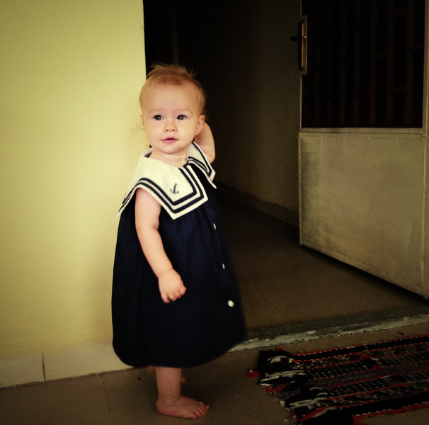 Aya and her sailor dress