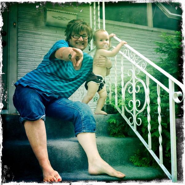Aya and Grandma Gosselin