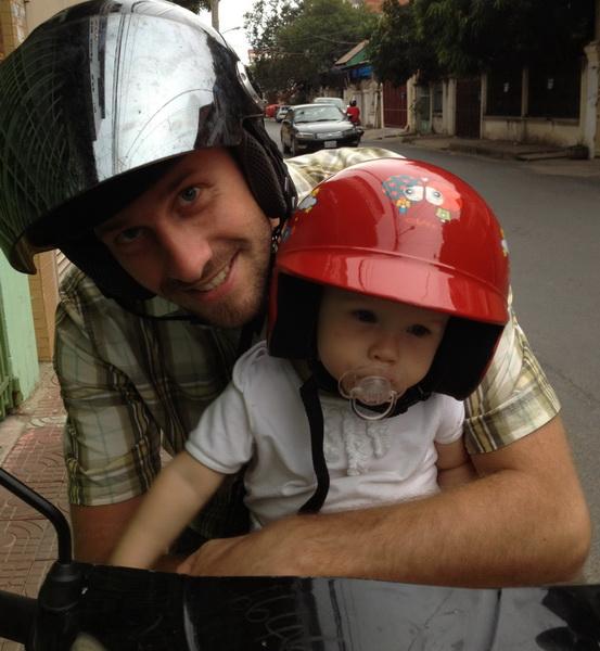 Aya in her new moto seat