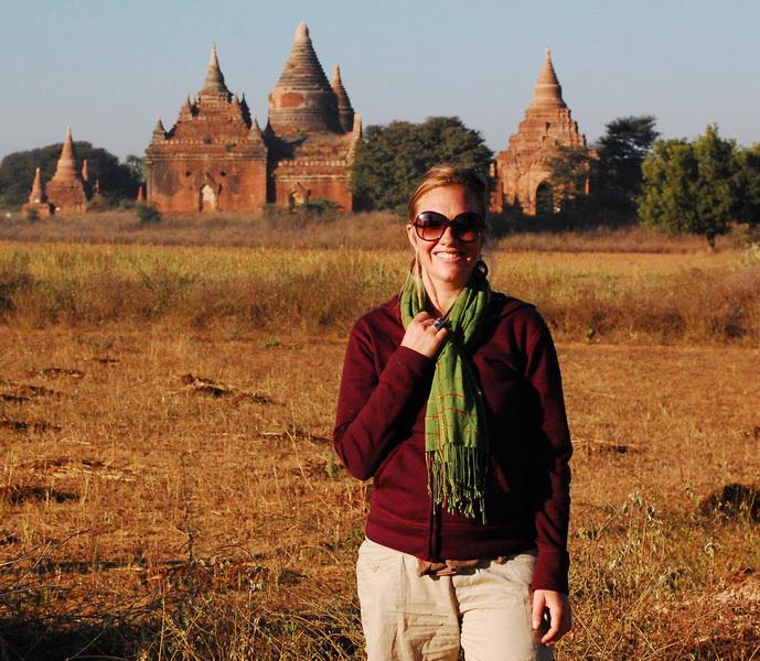 Amie exploring Bagan