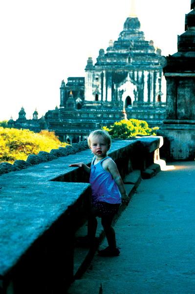 Aya tombraiding in Bagan