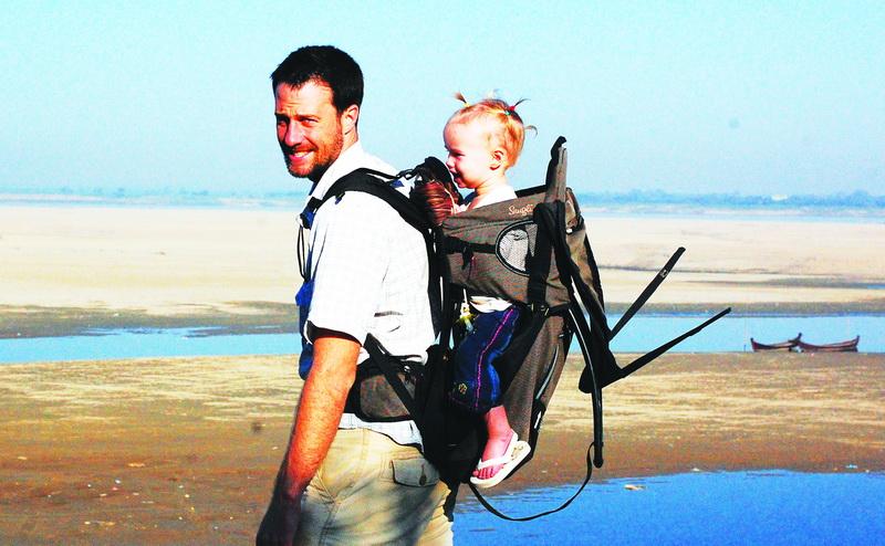 Steve + Aya near the Irrawaddy