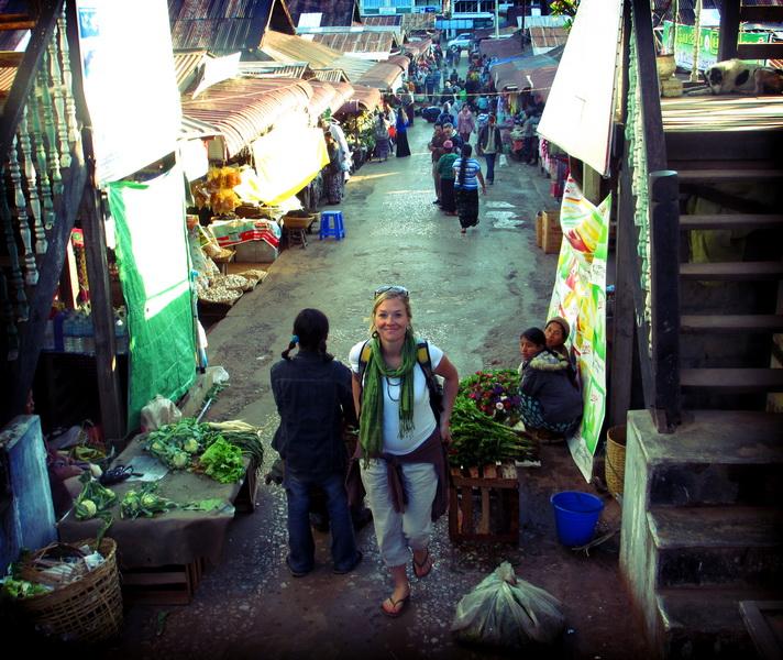 Amie at Kalaw market