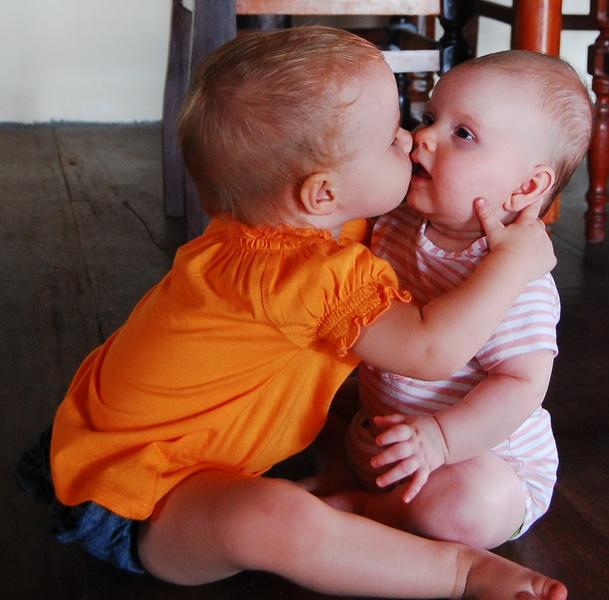Big kiss for Maya
