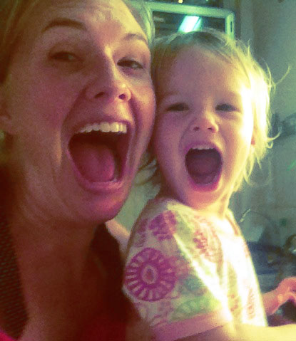 Mommy + Aya Aya's smile