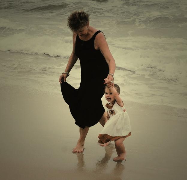 Yay + Aya on the beach Sihanoukville