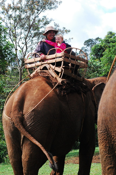 Aya does not enjoy elephant riding