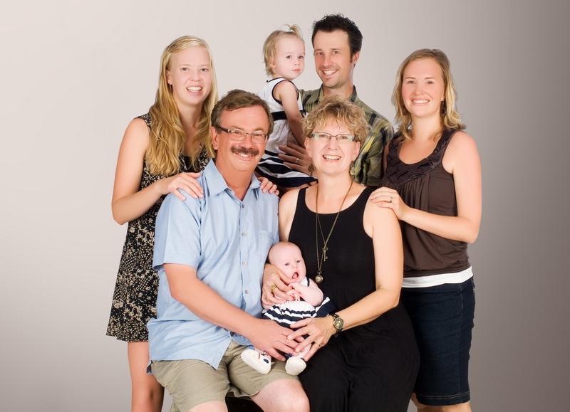 Modern family shot