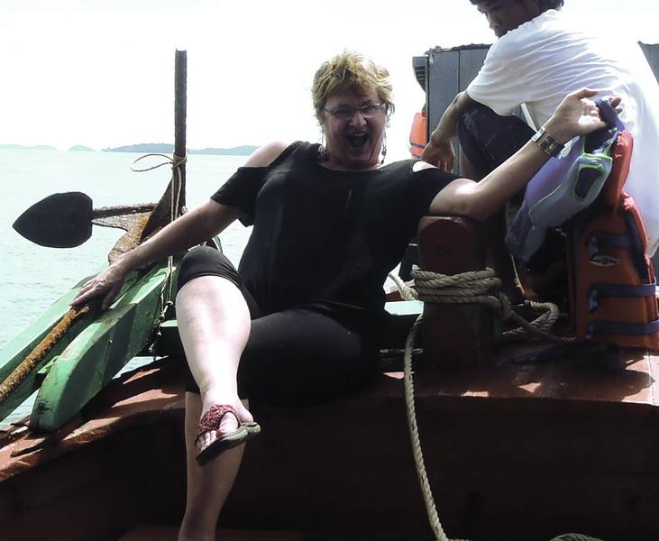 Sheila sailor pose