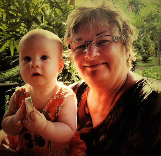 Sheila and new granddaughter Arwen