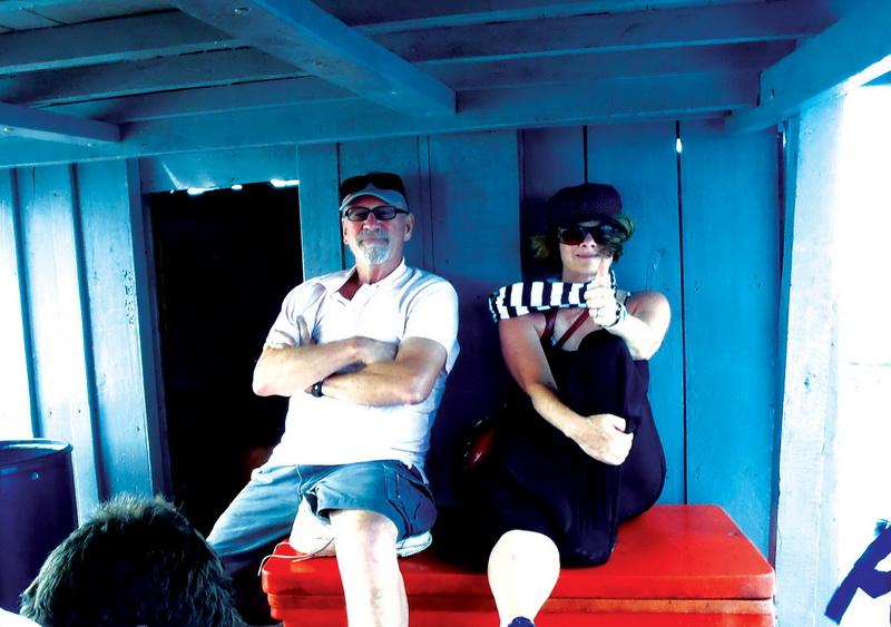 John + Sharon best seats on the boat