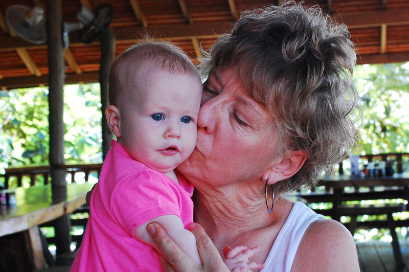 Faith with one of her favourite granddaughters